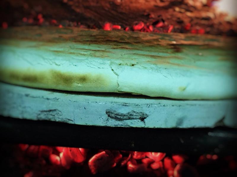 torta al testo cotta a legna